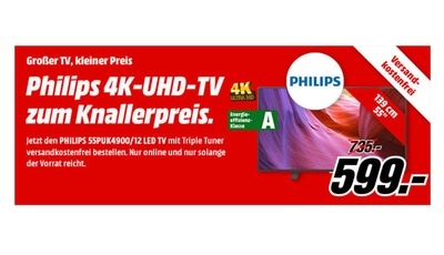 Philips 55 Zoll LED TV bei Media Markt