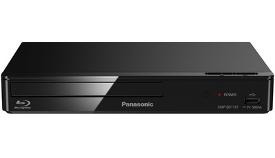 Panasonic DMP-BDT167EG Blu-ray Player (3D, Full HD Upscaling, Internet Apps, LAN-Anschluss, USB, MKV-Playback) schwarz