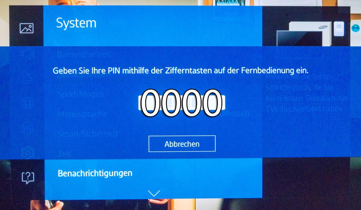 Samsung Fernseher auf Werkseinstellungen zurücksetzen PIN 0000