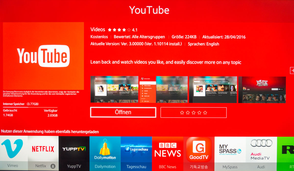 YouTube Smart TV