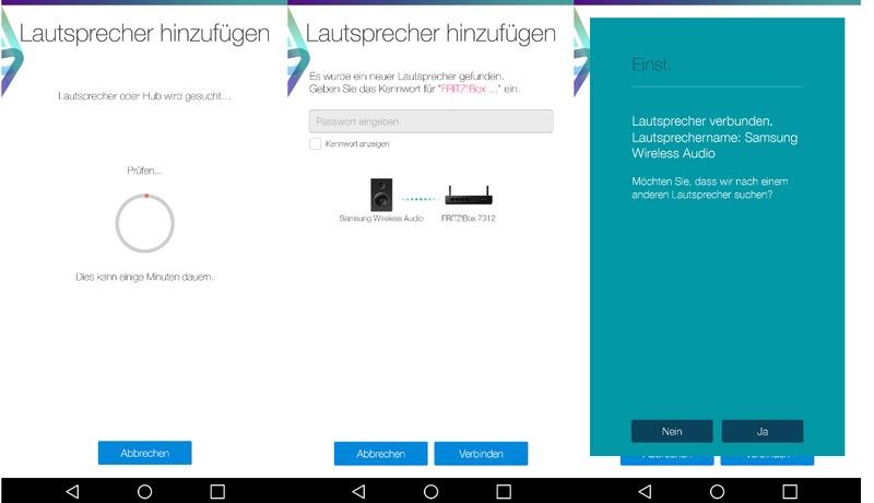 Samsung Wireless Audio-Multiroom 360° Lautsprecher App