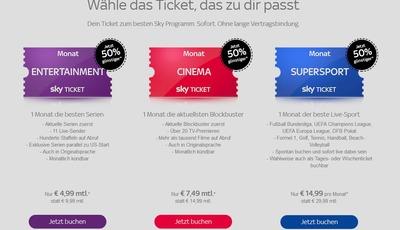 Sky Ticket reduziert Angebote bis Ende November