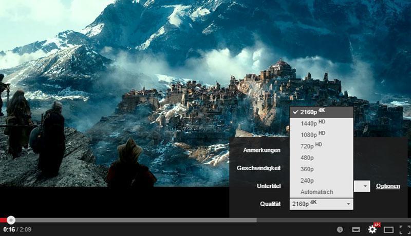 Kinotrailer in 4K (Ultra HD) genießen