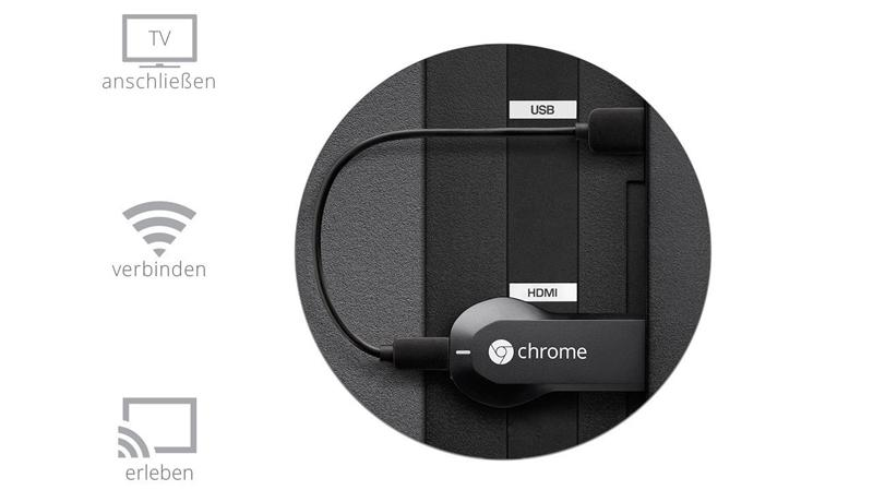 Google Chromecast HDMI Streaming-Media-Player Anschluss