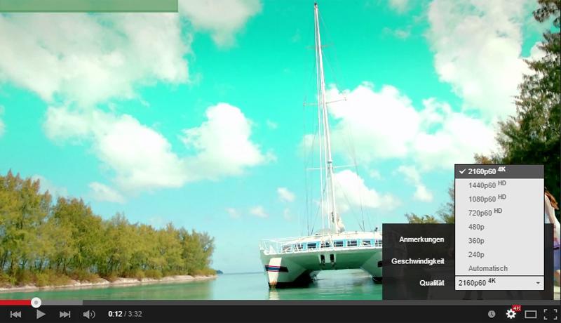 Erste YouTube-Videos mit Ultra-HD-Auflösung