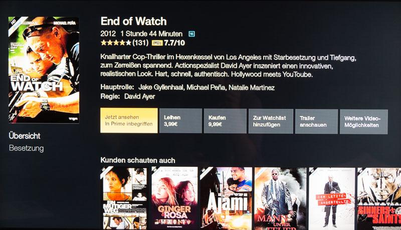FireTV Menü Film