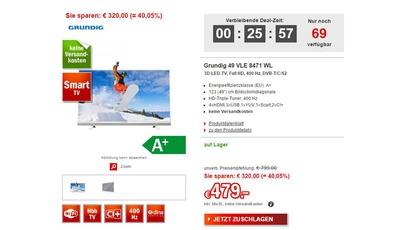 Superdeal bei Redcoon: Grundig 49 VLE 8471 WL für nur 479 Euro