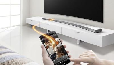Music Flow Soundbar HS8 von LG für Curved TVs vorgestellt