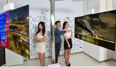 Doppelseitig: 111 Zoll OLED TV mit 4K von LG