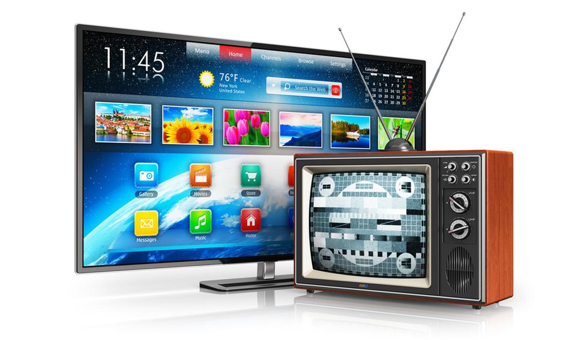 Alter und neuer Fernseher