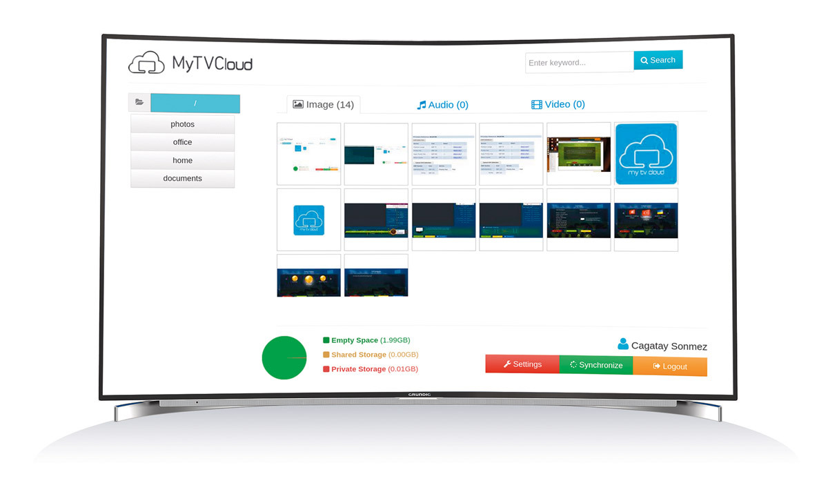 Grundig TV Plattform Ultralogic 4K MyTVCloud
