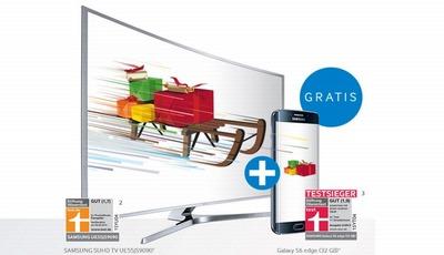 Zweinachten bei Samsung: TV und Smartphone im Paket