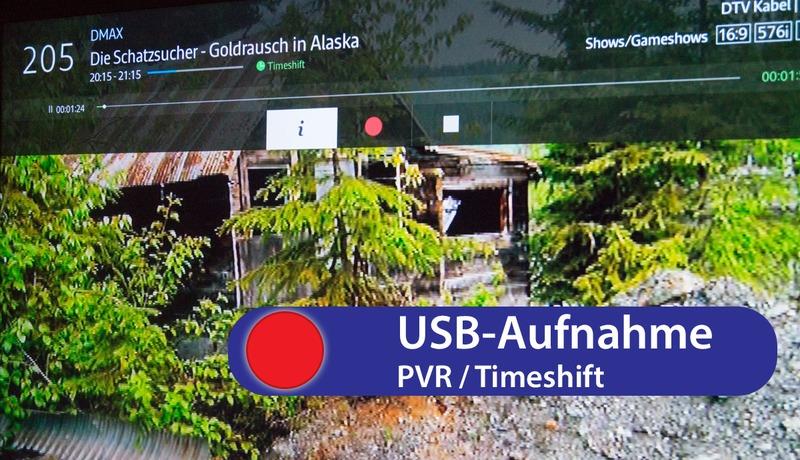 Aufnahme per USB (PVR und PVR-Ready) & Timeshift