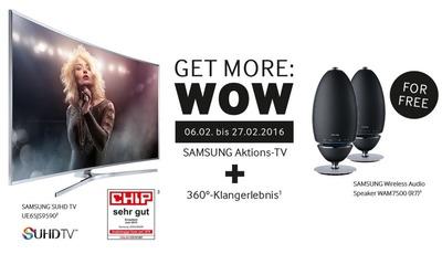 Samsung-Aktion: Lautsprecher gratis beim Kauf von (S)UHD